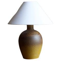 Tilgmans, Sizable Table Lamp, Glazed Stoneware, Sweden, 1950s