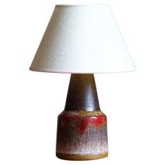 Tilgmans, Small Table Lamp, Glazed Stoneware, Sweden, 1950s