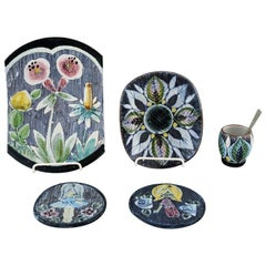 Tilgmans Sweden, a Collection of Ceramics Decorated with Girls and Floral Motifs