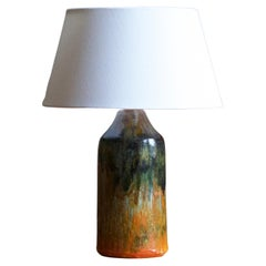 Tilgmans, Table Lamp, Glazed and incised Stoneware, Sweden, 1950s
