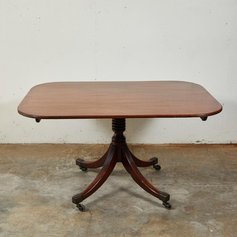 19th century mahogany breakfast table or side table.