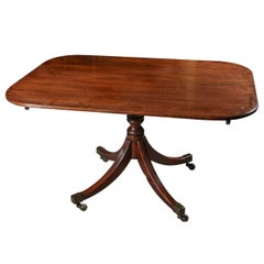 19th Century English Tilt-Top Breakfast or Side Table in Mahogany