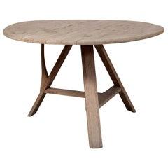 Tilt-Top Scrubbed Bleached Oak Table