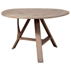 Tilt-Top Scrubbed Oak Table