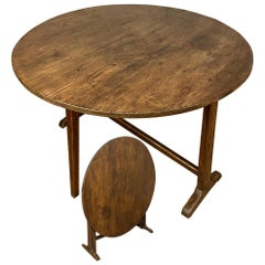 Tilt-Top Table, 19th Century Country French Wine Tasting