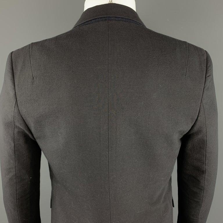 3aeceb839 TIM COPPENS 38 Black Cotton / Wool Notch Lapel Sport Coat