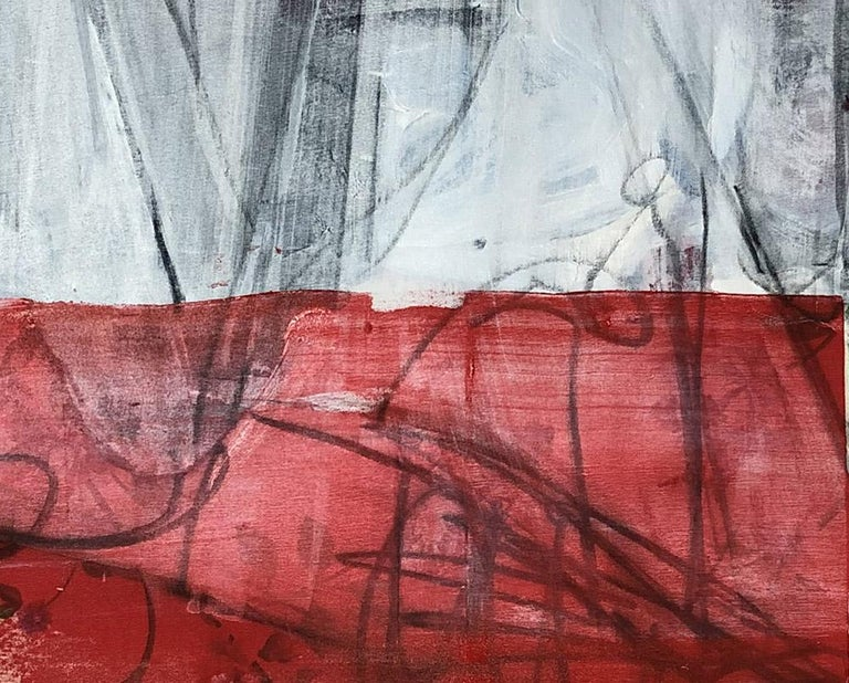 Curtains Included (Abstract Painting) For Sale 2