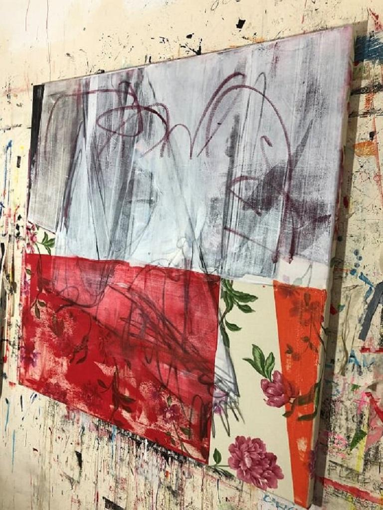 Curtains Included (Abstract Painting) For Sale 4