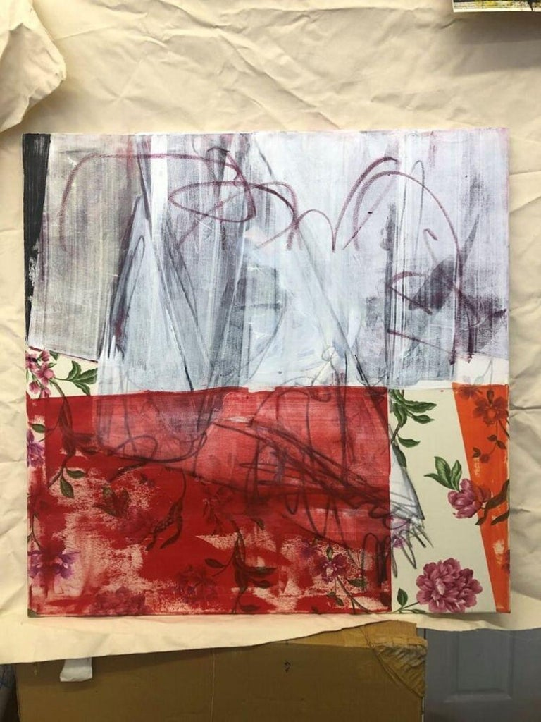 Curtains Included (Abstract Painting) For Sale 6