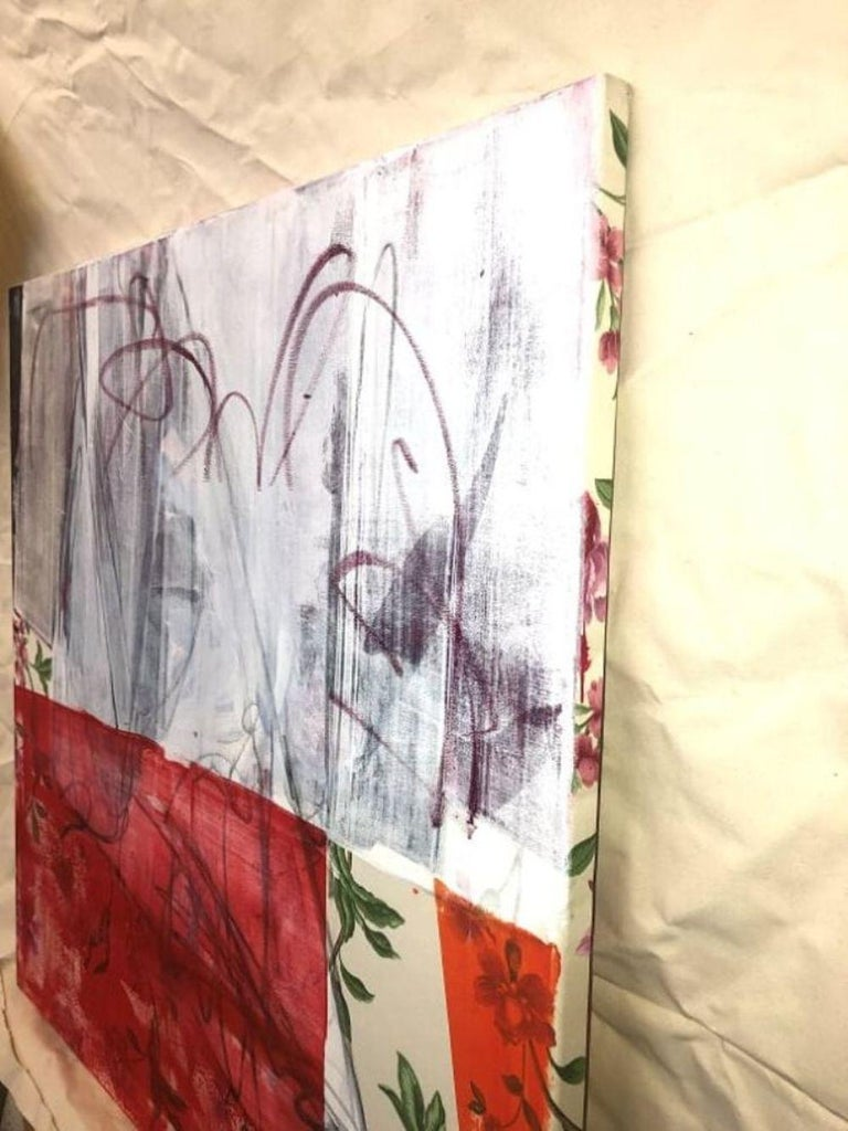 Curtains Included (Abstract Painting) For Sale 7