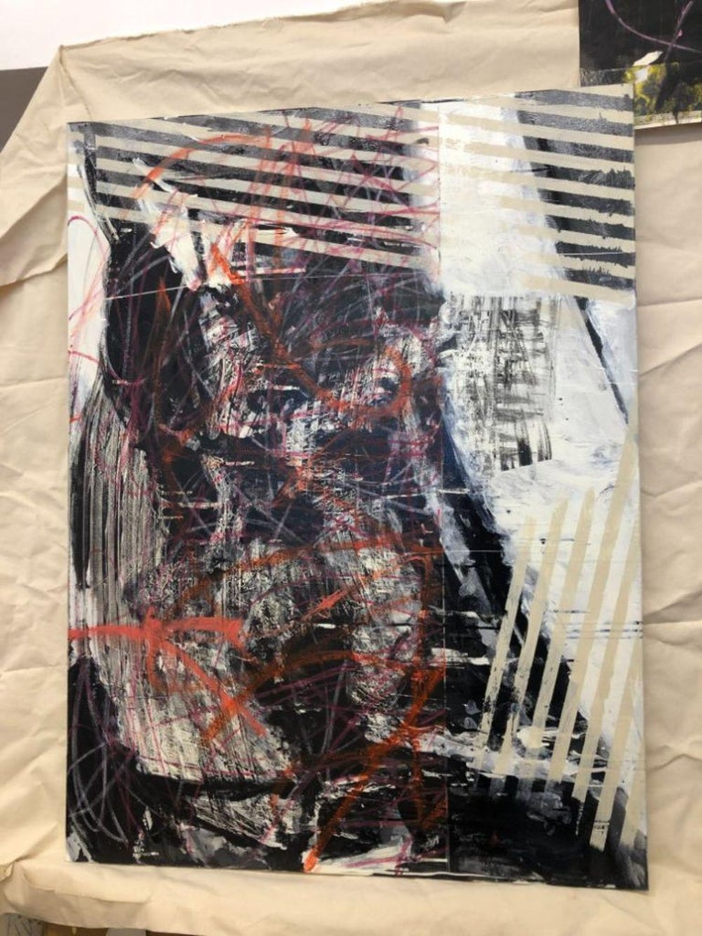 Daily Fish Wrap (Abstract painting) For Sale 9
