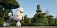 Topiary - Landscape gardening, Outdoors, Nature, Sunshine, Blue skies, Dogs