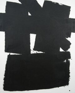 Wednesday - bold, black and white, abstract, contemporary, acrylic on canvas