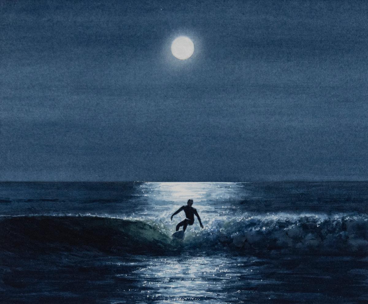 Horizontal Drawings and Watercolor Paintings