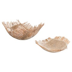 Tim Johnson Large Curve Basket , Contemporary Crafts, Willow, Sisal, Earth
