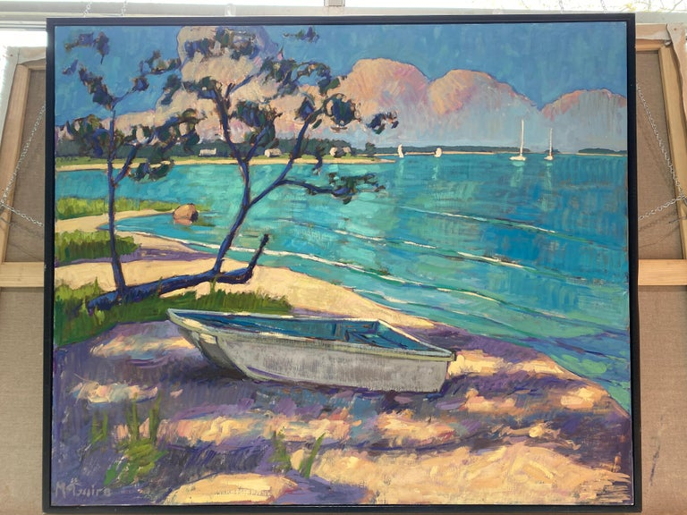 Little Boat on the Beach - Painting by Tim McGuire