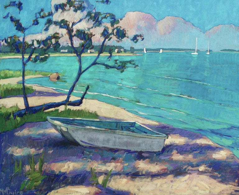 Tim McGuire Still-Life Painting - Little Boat on the Beach