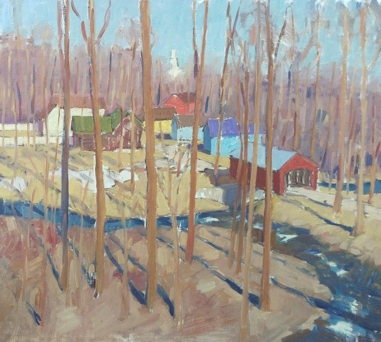 Tim McGuire Landscape Painting - Tall Trees