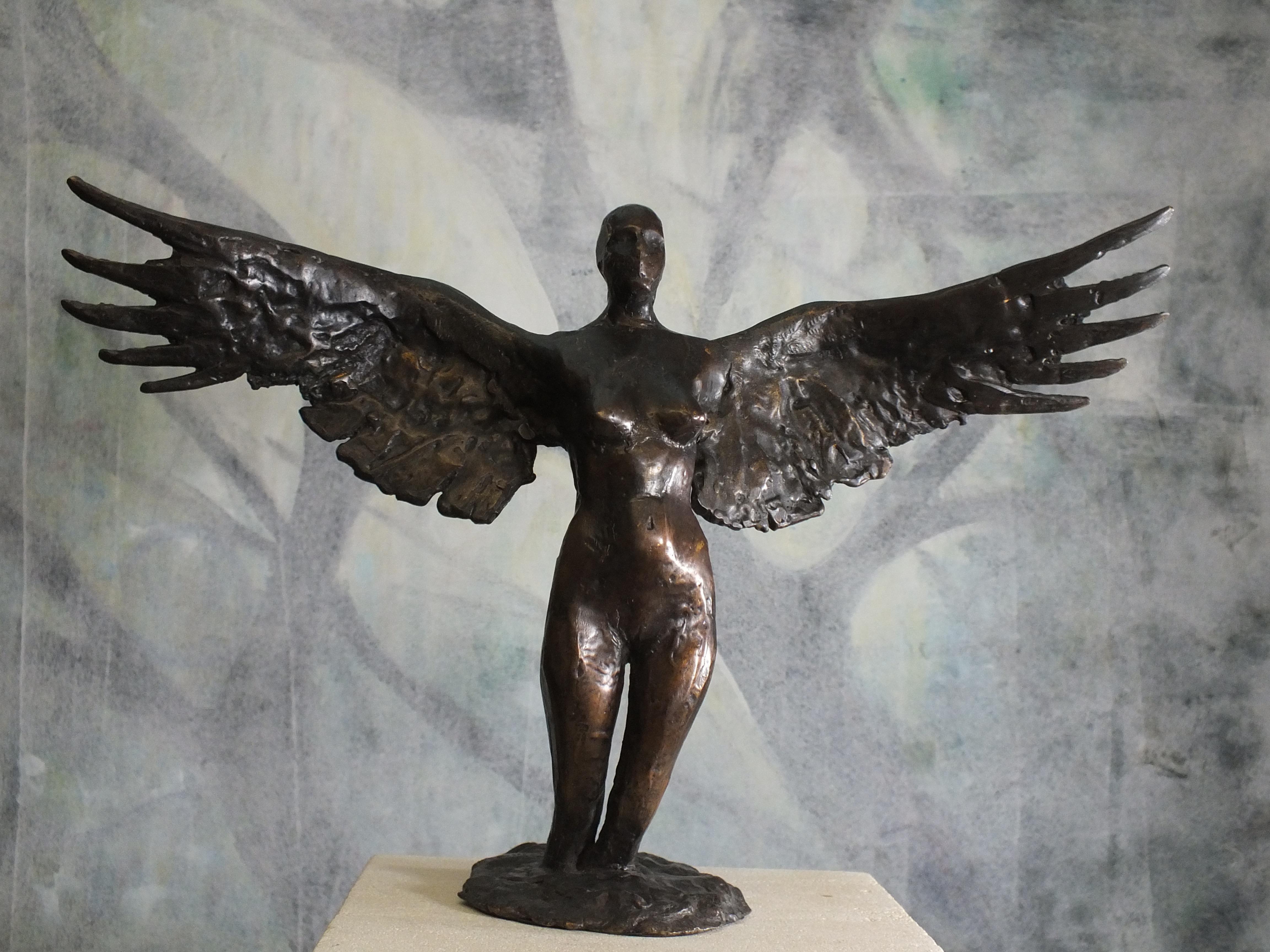 """Eagle"".  Contemporary Cast Bronze Sculpture"