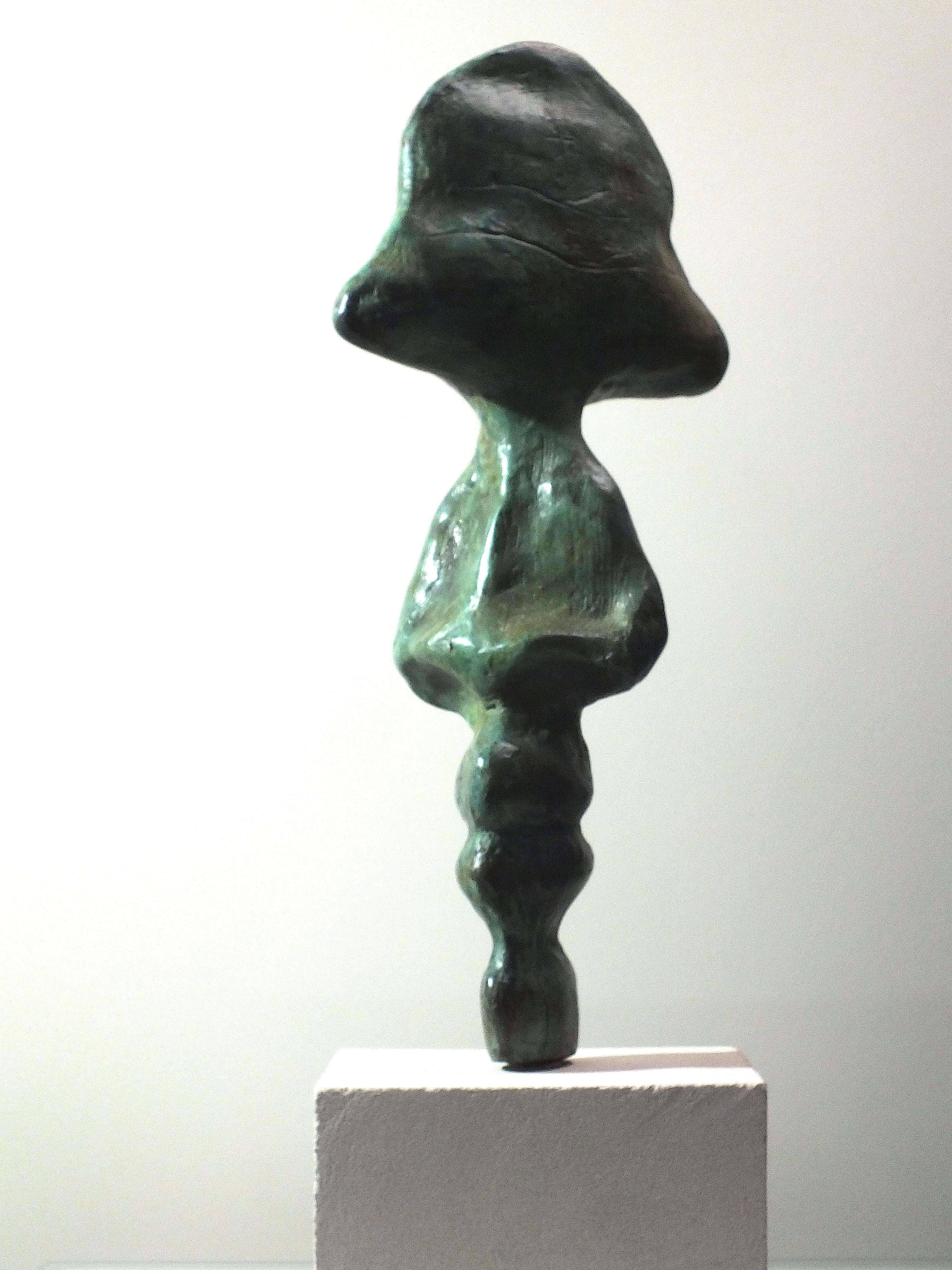 """""""I.D.II"""": Unique Contemporary Cast Bronze Sculpture"""