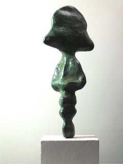 """I.D.II"": Unique Contemporary Cast Bronze Sculpture"
