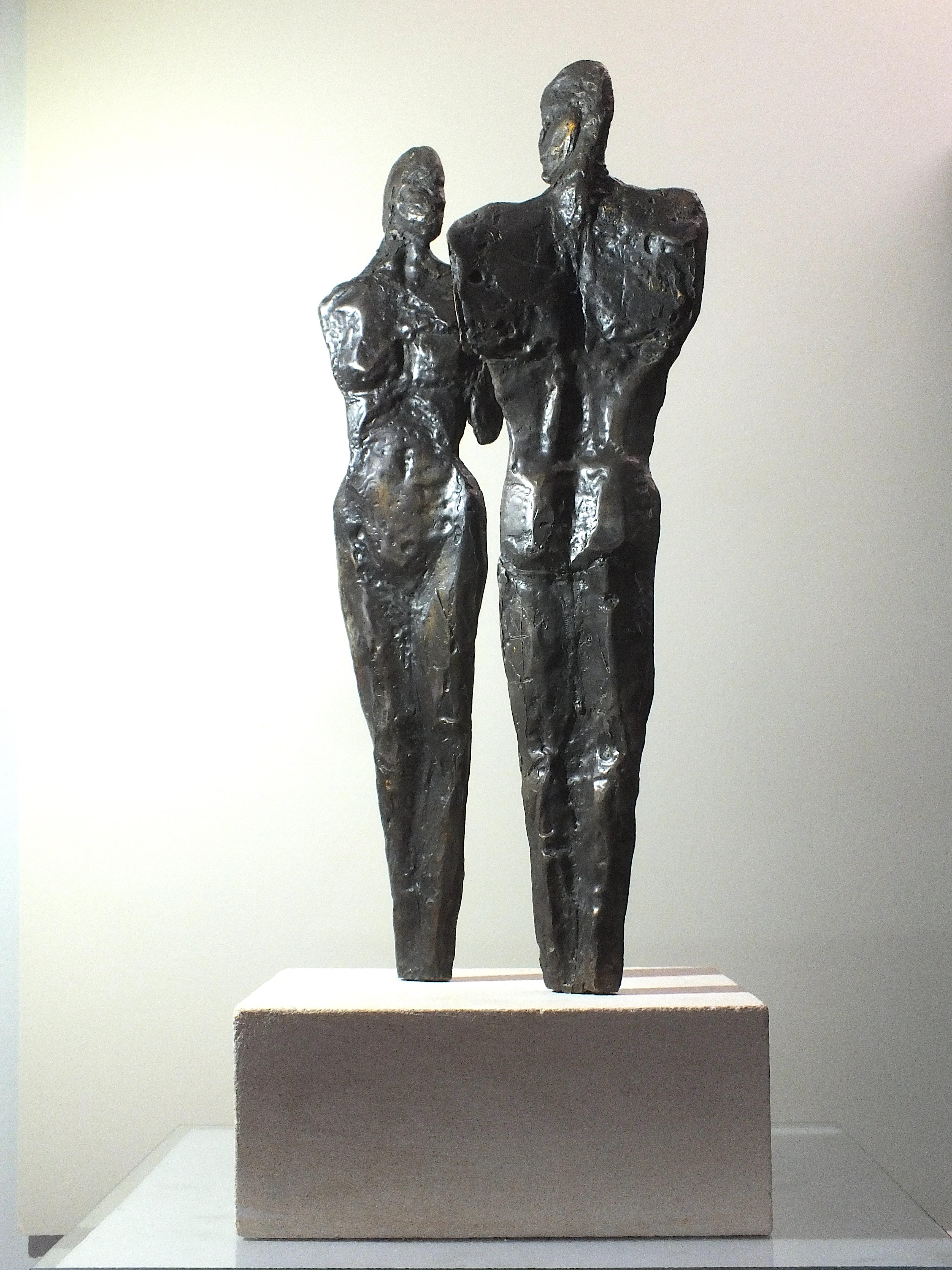 """Rapport II"" Original Contemporary Cast Bronze"
