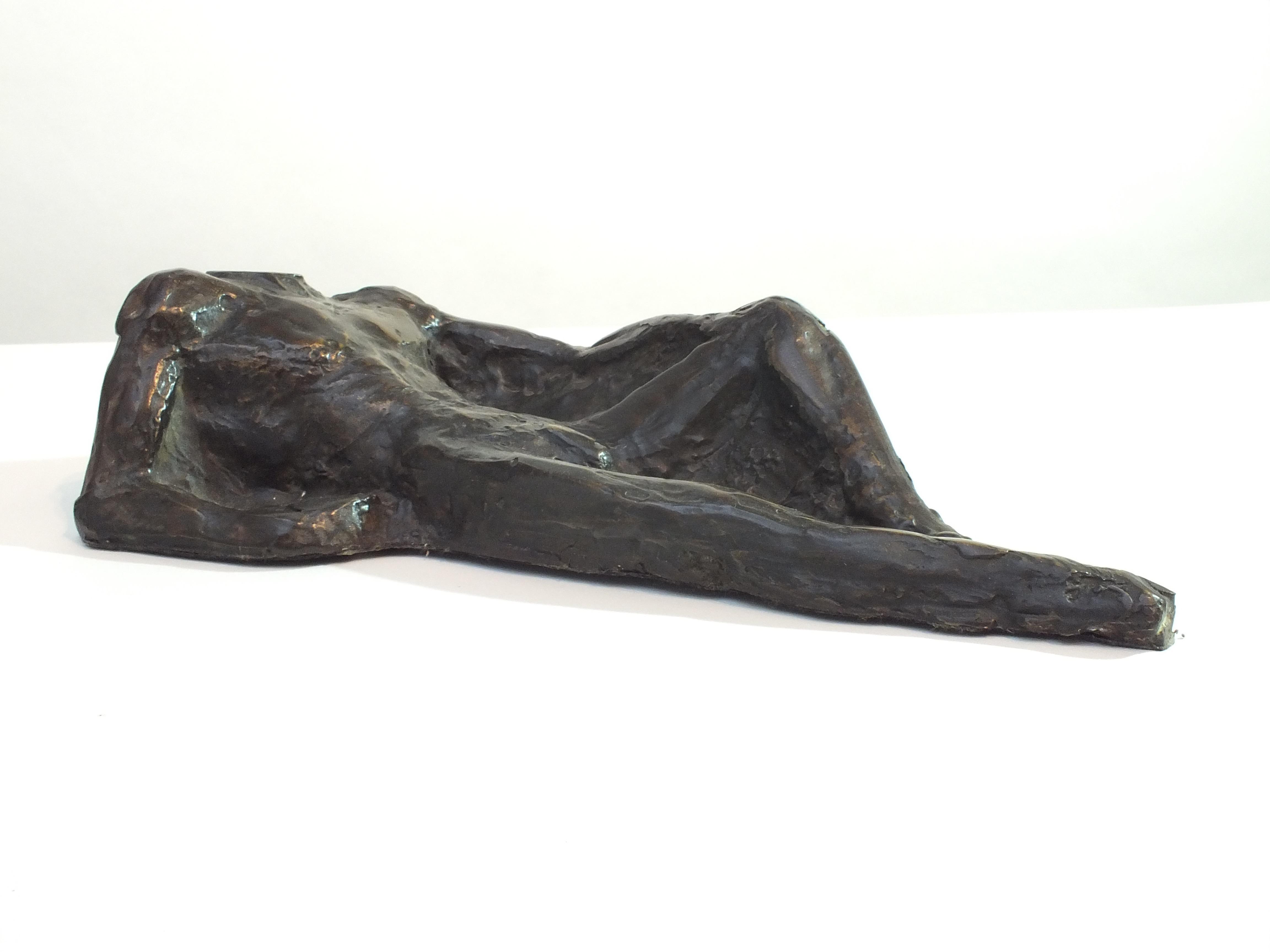 """""""Self Portrait"""" Contemporary Cast Bronze Sculpture"""