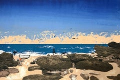 Tim Southall, Beach boys, Limited edition landscape and seasacpe print