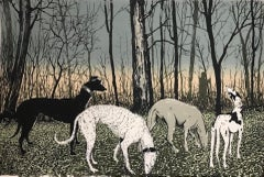 Tim Southall, Out with the Dogs, Limited Edition Print, Animal Art, Art Online