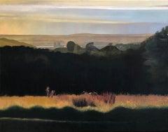 Caernarfon Castle, North Wales, landscape original oil painting