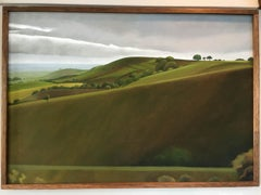 Pegsdon Hill, landscape, traditional, original art, contemporary modern painting