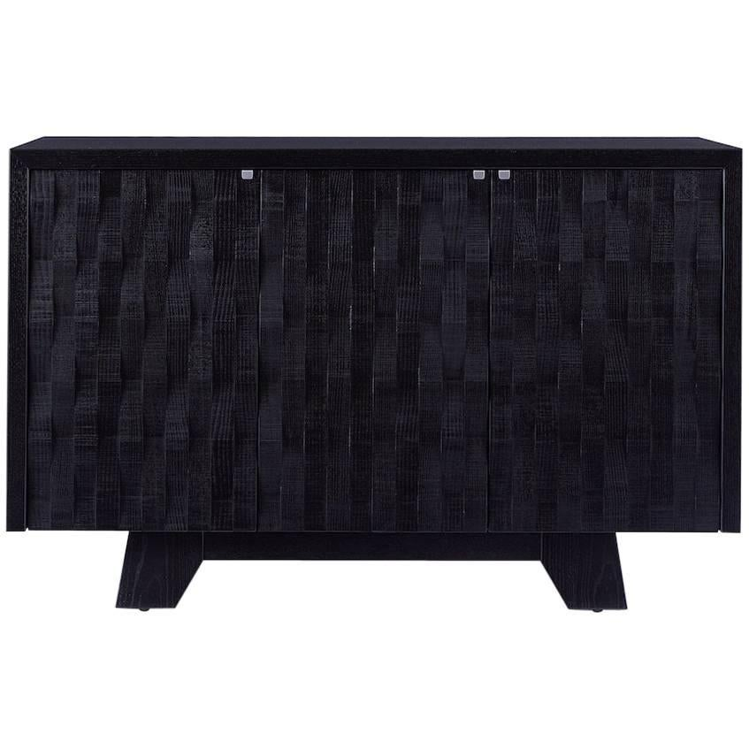 Timber Sideboard in Ash / Ebonized, Cabinet, Handcrafted, Modern