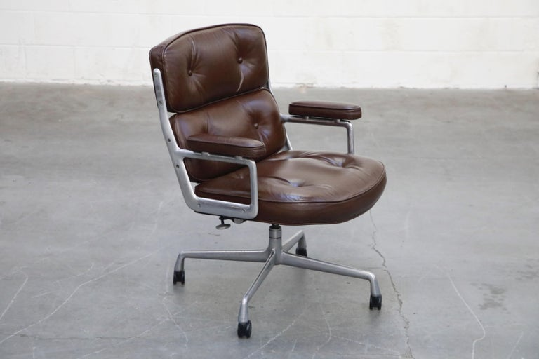 American Time Life Executive Desk Chairs by Charles Eames for Herman Miller, 1977, Signed