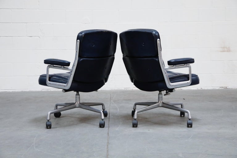 'Time Life' Executive Office Chairs by Charles Eames for Herman Miller, Signed In Good Condition For Sale In Los Angeles, CA