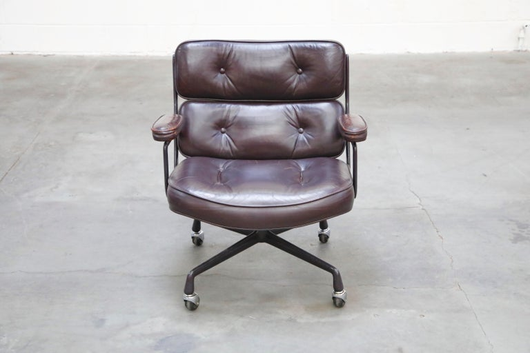 Time Life 'Lobby' Desk Chair by Charles and Ray Eames for Herman Miller, Signed In Good Condition For Sale In Los Angeles, CA