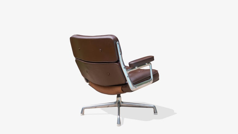 American Time-Life Lobby Lounge Chair in Leather by Charles & Ray Eames for Herman Miller For Sale