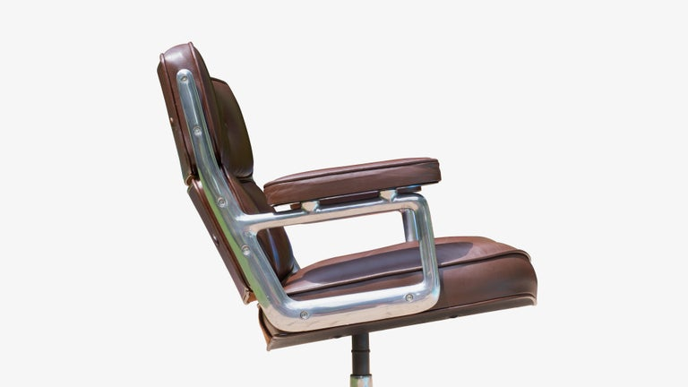 Metal Time-Life Lobby Lounge Chairs by Charles & Ray Eames for Herman Miller, Pair For Sale