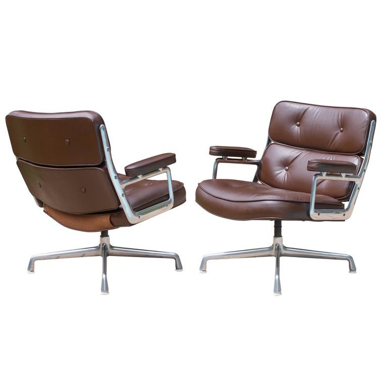 Time-Life Lobby Lounge Chairs by Charles & Ray Eames for Herman Miller, Pair For Sale