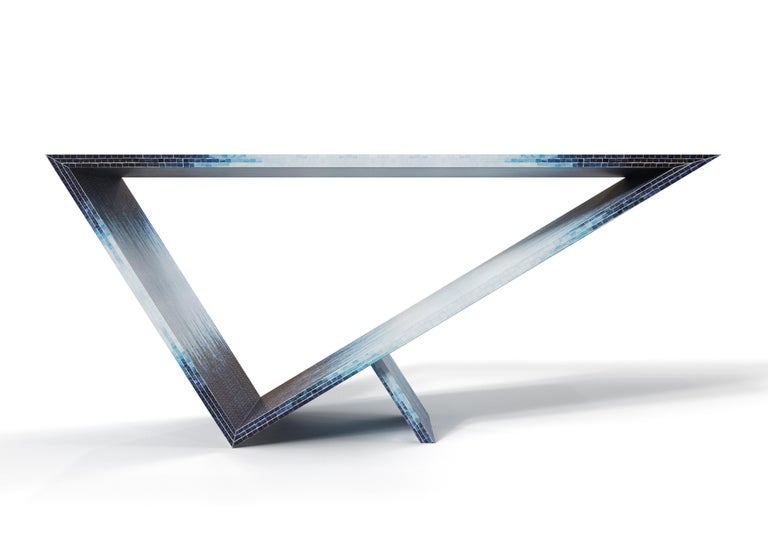 Contemporary Time/Space Portal Console, Ombre 1, A Series by Neal Aronowitz For Sale