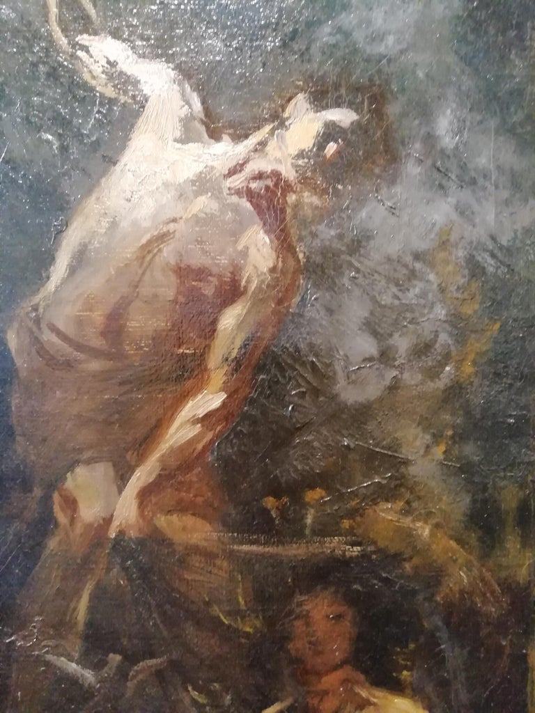 Time That Reveals the Truth, Augusto Stoppoloni Oil on Canvans Italian Painting For Sale 2