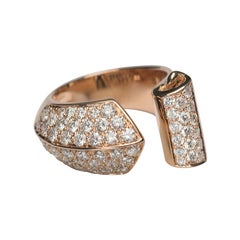 Timeless 1.70 Karat White Diamonds 18 Karat Rose Gold Design Ring Cocktail Ring