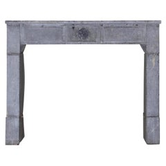 Timeless Antique Fireplace Surround In Bicolor Marble Stone