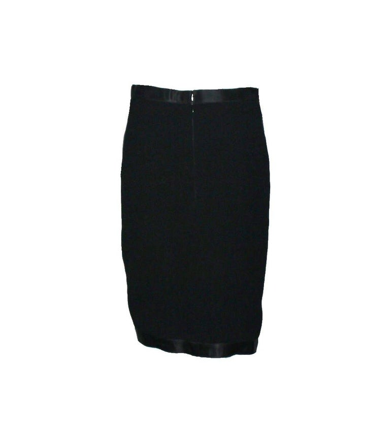 Timeless Black Chanel Tuxedo-Style Evening Skirt In Good Condition For Sale In Switzerland, CH