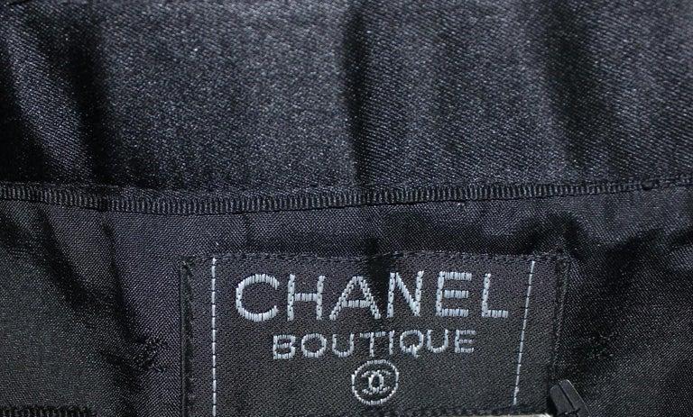 Women's Timeless Black Chanel Tuxedo-Style Evening Skirt For Sale
