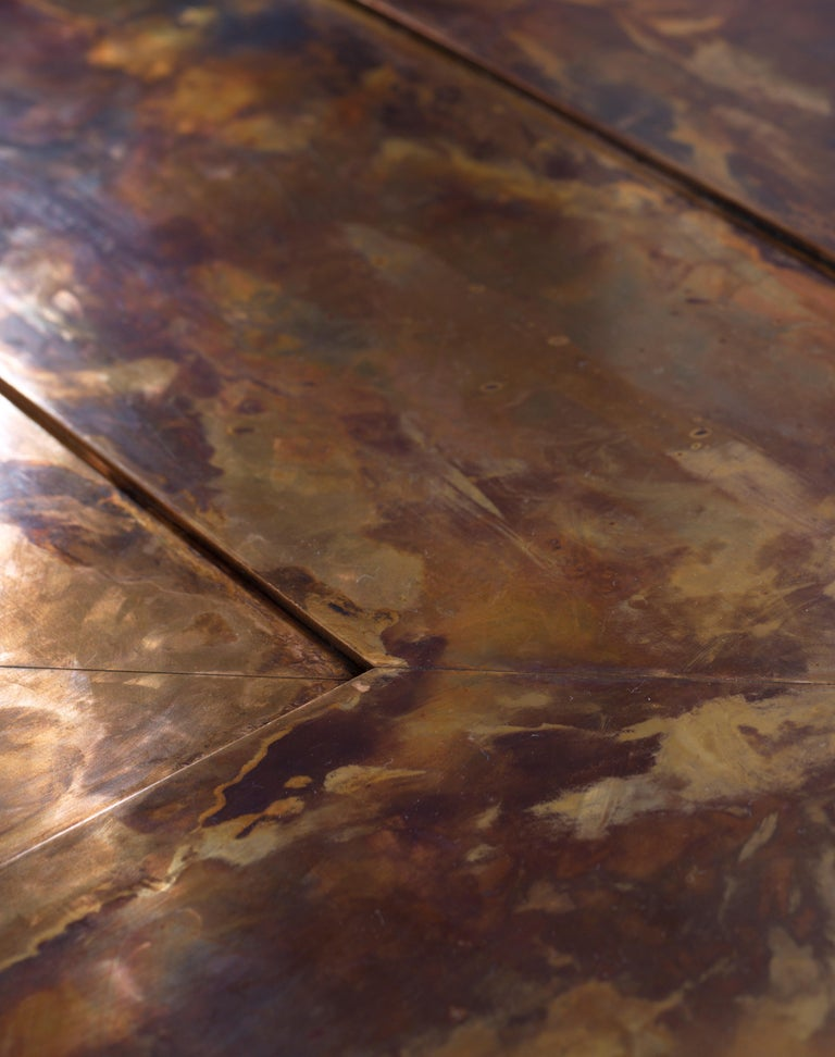 21st Century Patinated Bronze Timeless Coffee Table In New Condition For Sale In Lisciano Niccone, Perugia