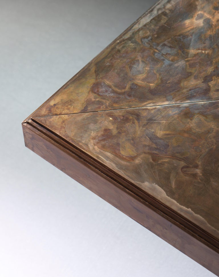 Contemporary 21st Century Patinated Bronze Timeless Coffee Table For Sale