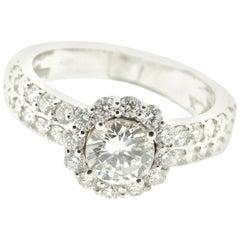 Timeless Diamond Ring in 18 Karat White Gold
