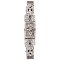Timeless Flexible Art Deco Bracelet with Floating Diamonds