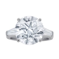 Timeless GIA Certified 7.01 Carat I-VS2 Round Cut Engagement Ring