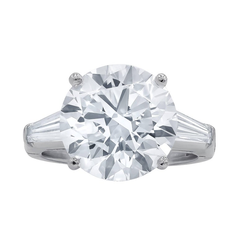 Timeless GIA Certified 7.01 Carat I-VS2 Round Cut Engagement Ring For Sale